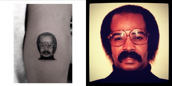 See drake s new tattoo of his father s mugshot k97 5 for Drake new tattoo