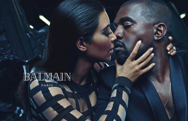 Kim Kardashian & Kanye West Reveal First Ad Campaign For Balmain Paris