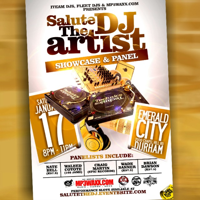 Salute The DJ flyer w Authority