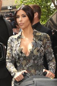 Kim Kardashian Sighting In Paris
