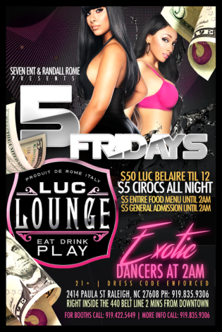Luc Lounge Friday Event Post Graphic
