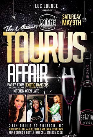 Luc Lounge Saturday Night Party Event Post Flyer