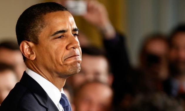 Obama Frowning