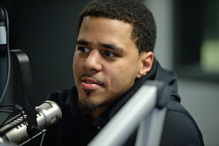 J Cole Visits Y 100 Radio Station