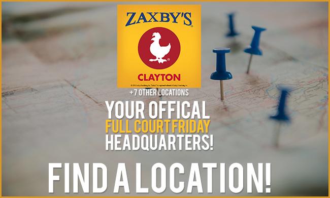 Full court fridays zaxbys locations