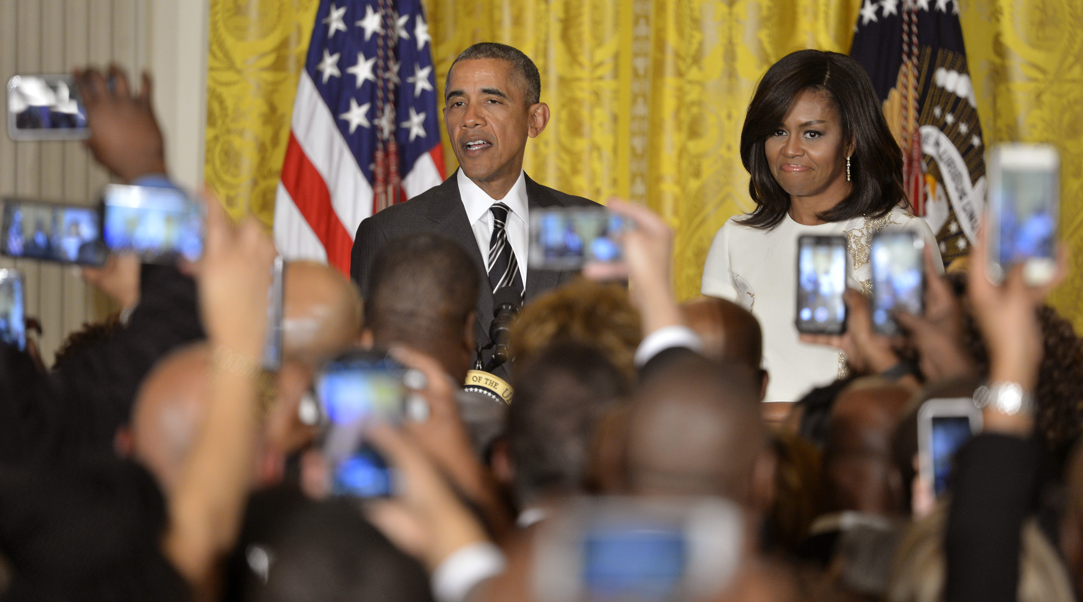 President Obama and First Lady Address Reception For Black History Month