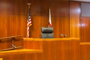Courtroom Witness Stand and Bench