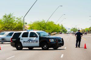 Emergency scene traffic diversion