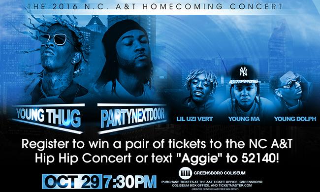 NCAT Hip Hop Concert Register To Win/Text To Win