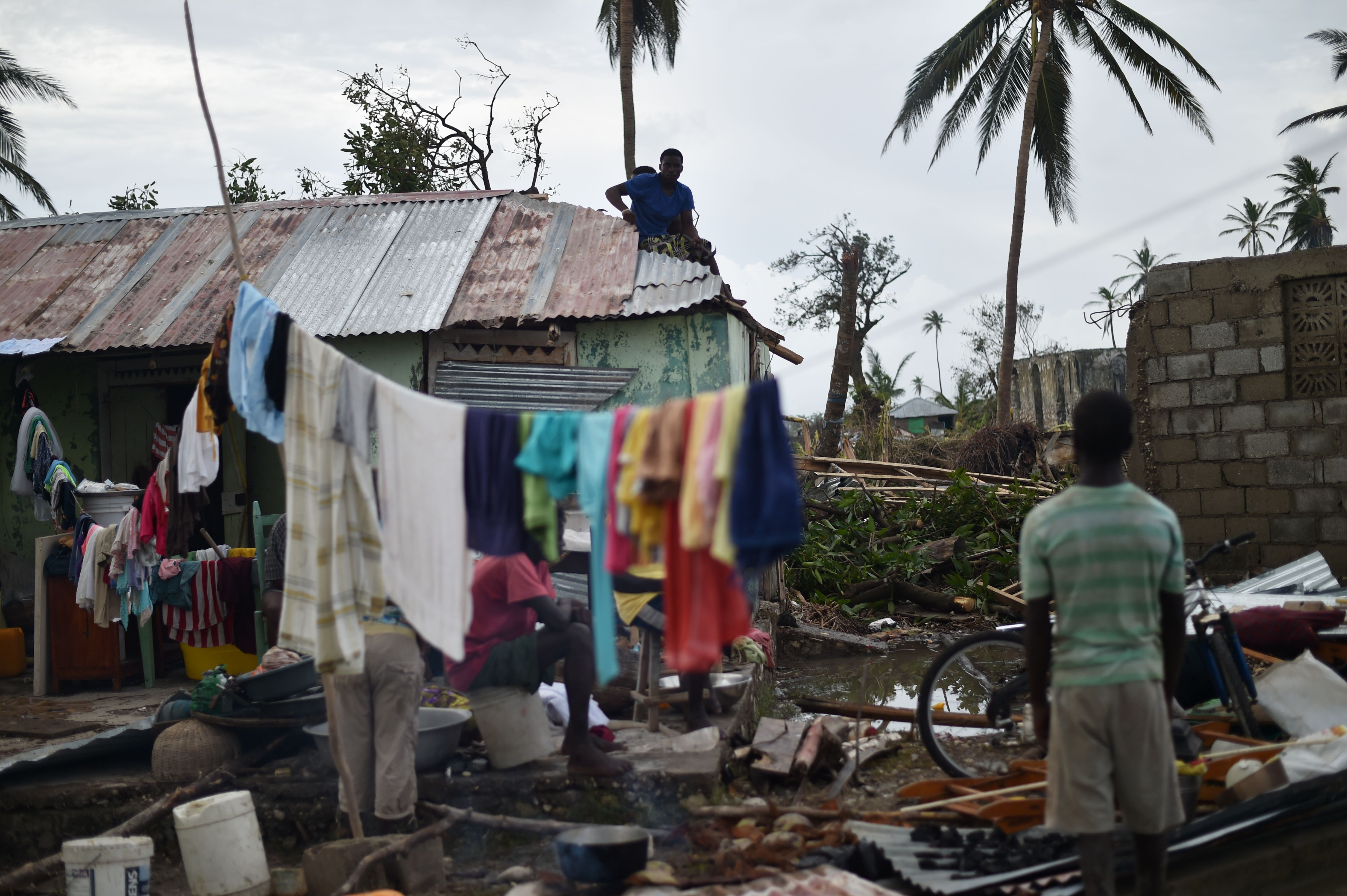 HAITI-WEATHER-HURRICANE-CARIBBEAN-DESTRUCTION