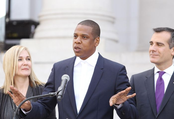 Shawn 'Jay Z' Carter Makes Announcement On the Steps Of City Hall Downtown Los Angeles