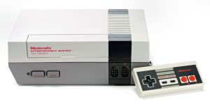 Vintage Game Console Shoot
