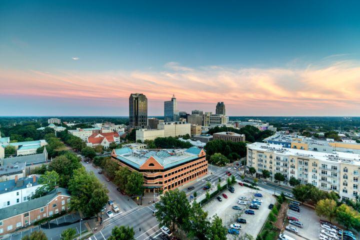 Downtown Raleigh Twilight, North Carolina