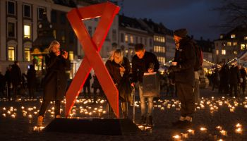 World AIDS Day 2016 - Candlelight vigil in Copenhagen