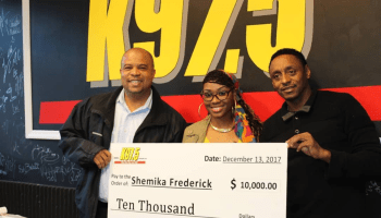 Shemika Frederick For Winning The 10K Check From Migos & K975!