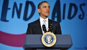 US President Barack Obama speaks at a Wo