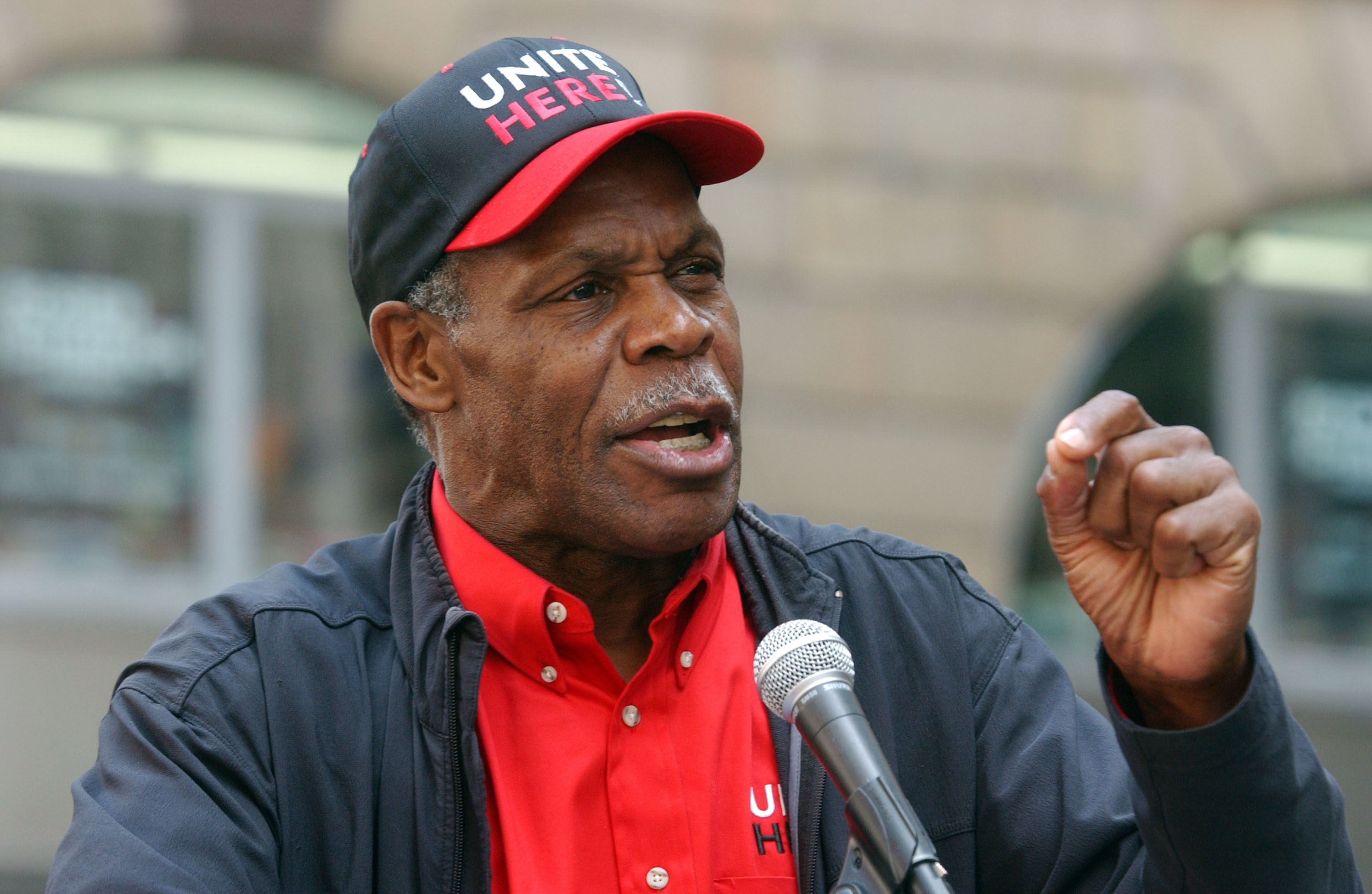USA - May Day - Danny Glover at New York Rally