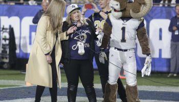 Celebs at Rams game