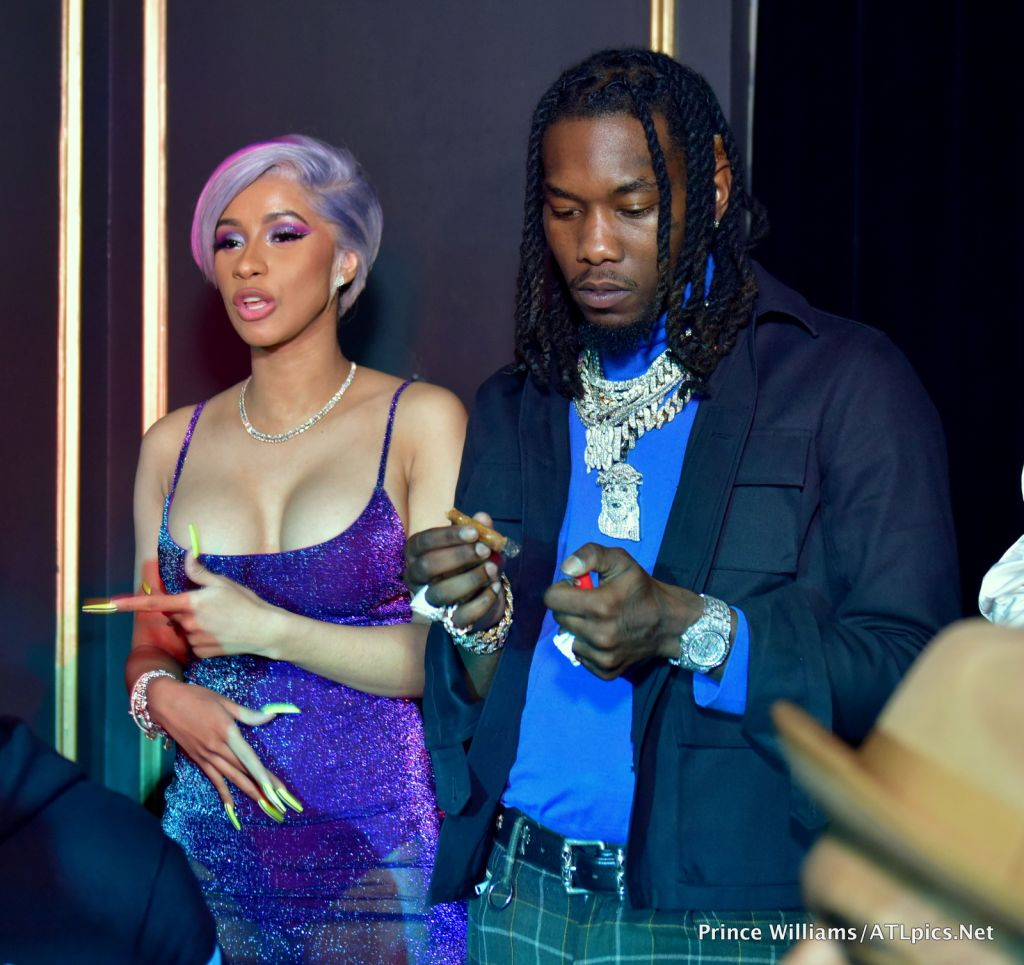Cardi B and Offset Coupled Up at Oak Atlanta