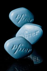 Tablets of Pfizer's erectile dysfunction drug Viagra are arr