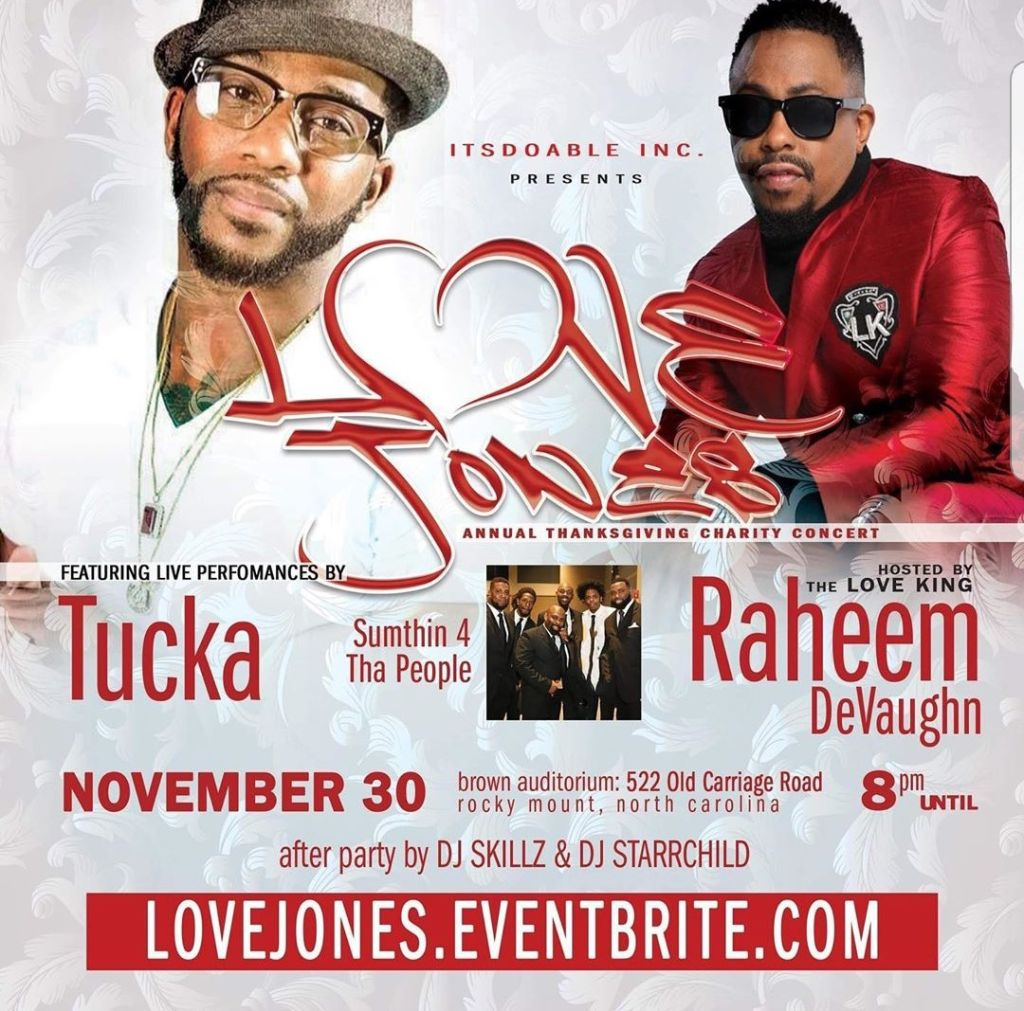 Love Jones Annual Thanksgiving Charity Concert