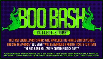 Boo Bash College Stops