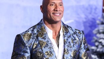 Actor Dwayne Johnson (The Rock) wearing Dolce & Gabbana arrives at the World Premiere Of Columbia Pictures' 'Jumanji: The Next Level' held at the TCL Chinese Theatre IMAX on December 9, 2019 in Hollywood, Los Angeles, California, United States.