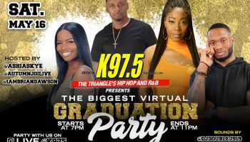 K97.5 Presents North Carolina's Largest Virtual Graduation Party